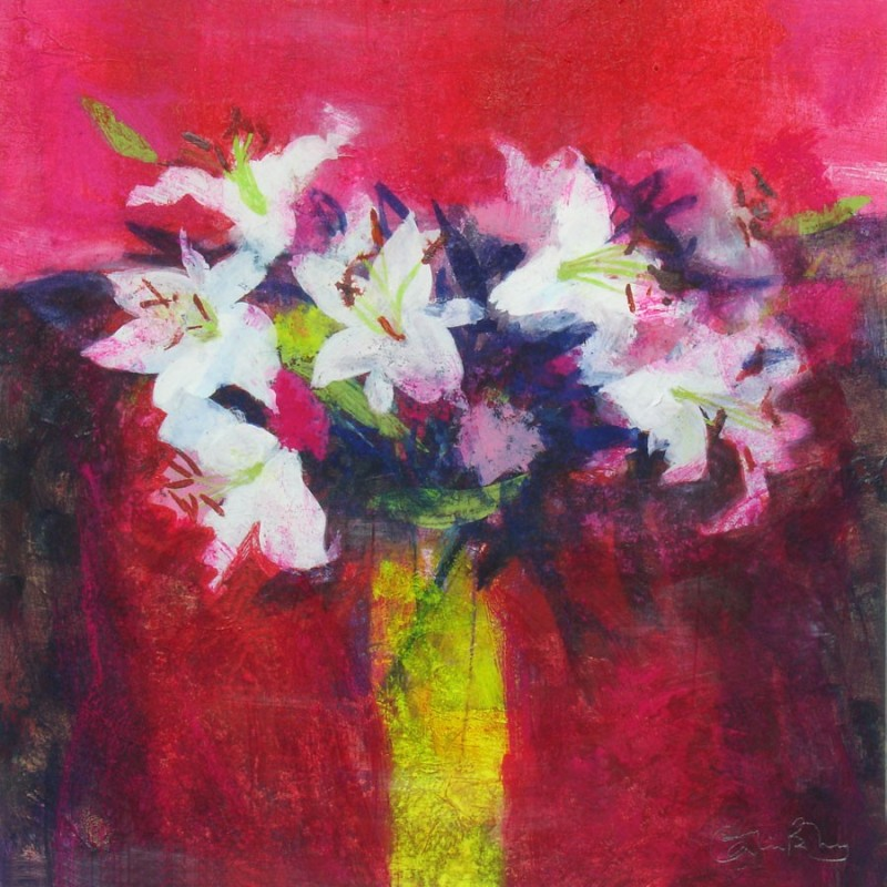 Lilies on Red