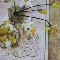 Daffs and Willow — Janet Cleghorn
