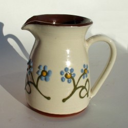 Blue flowered pint jug