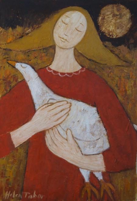 Girl with a Bird