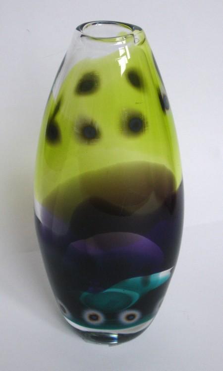 Citrus lilac green vase
