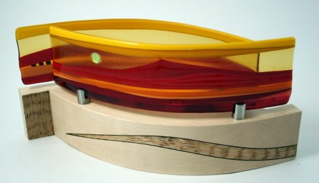 Fused Glass Journey Sculpture
