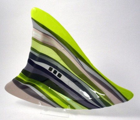 Fused Glass Fin Dish