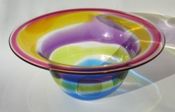 Large ruby amber lilac citrus mid flared bowl — Jane Charles