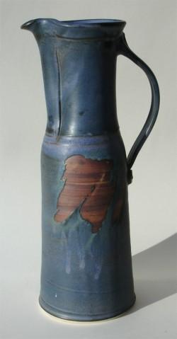 Tall blue jug