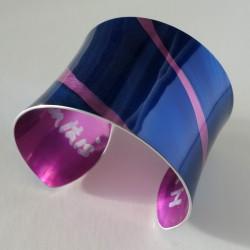 Blue pink cuff