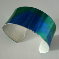 Blue green bangle