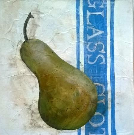 Pear on Linen