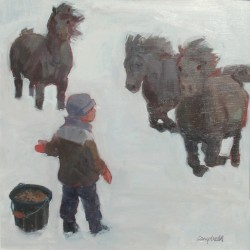 Ponies, Boy and a Bucket