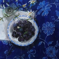 Blueberries and Wild flowers