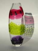 Large ruby citrus lilac strappy vase