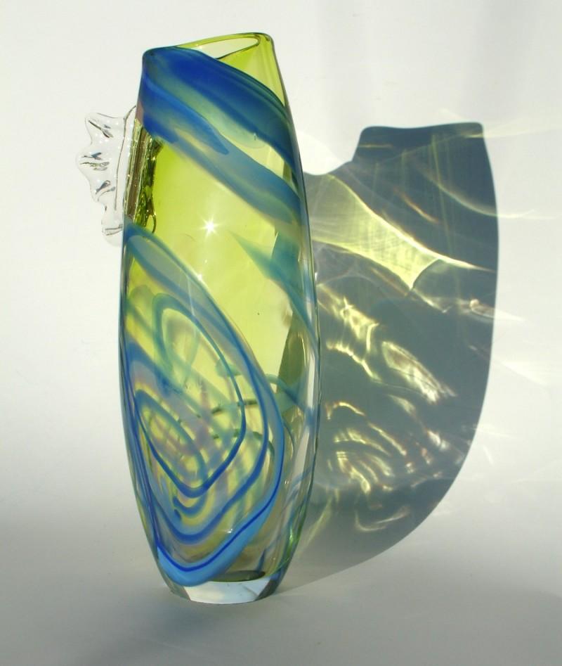 Citrus blue fin vase