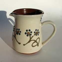 Dark flowered pint jug