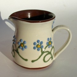 Blue flowered half-pint jug