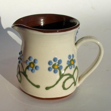 Blue flowered half-pint jug
