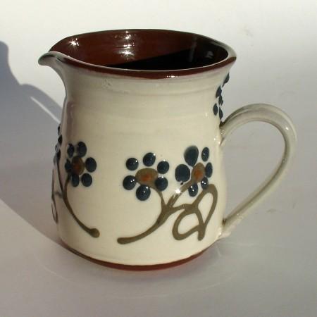 Dark flowered half-pint jug
