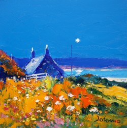Summer moonrise Isle of Gigha