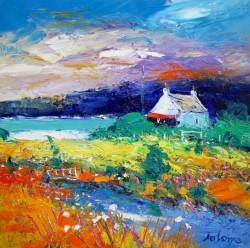 An autumnlight over Isle of Gigha