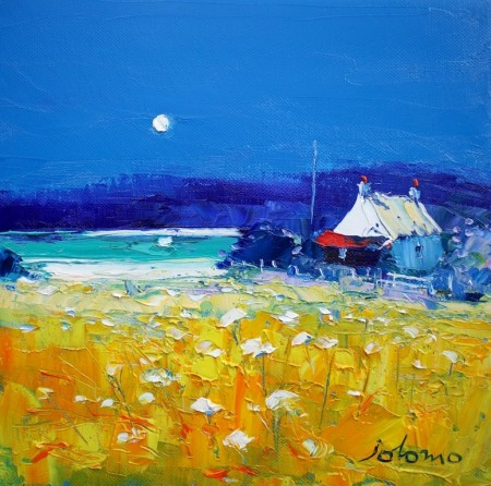A summer moonrise Isle of Gigha