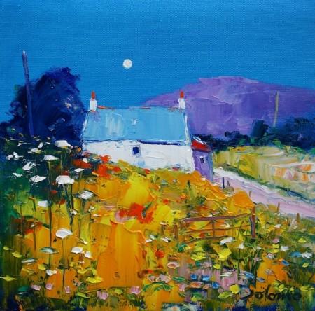 Moon and croft Isle of Gigha