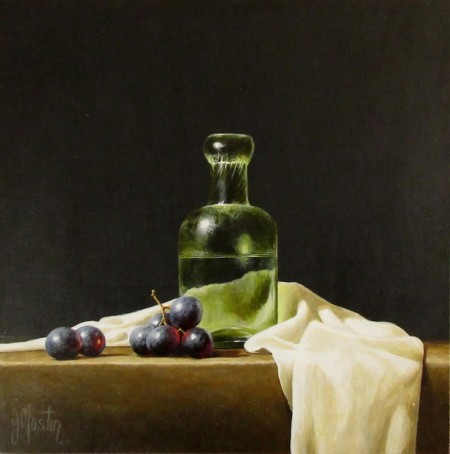 Seltzer Bottle with Grapes
