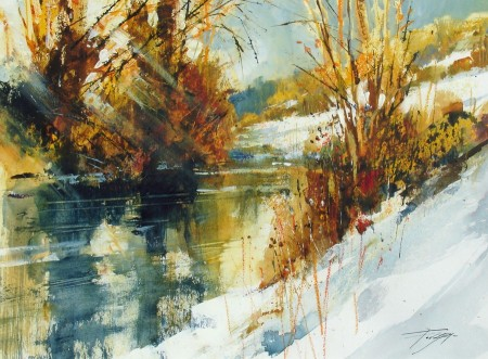 River Don and Winter Sunshine