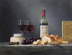 Chateau Comensac with Cheeses
