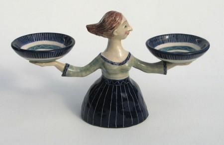 Woman and Bowls
