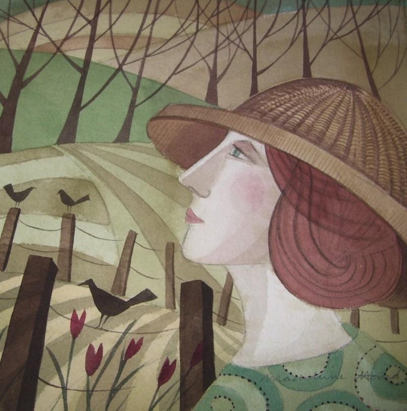 Straw Bonnet - Madeleine Hand