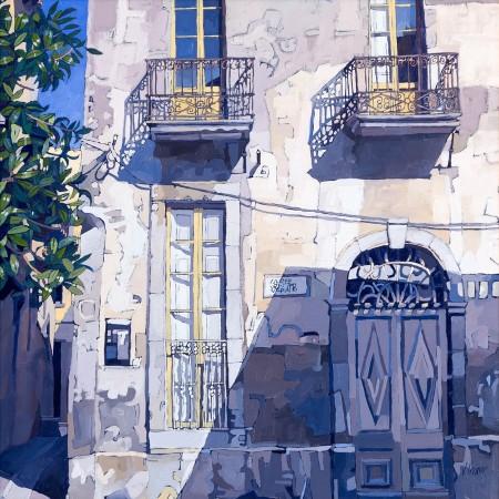 Street Shade, Begur, Catalonia - Jennifer Irvine RSW RGI