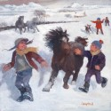 Pony Racing in the Snow - Catriona Campbell