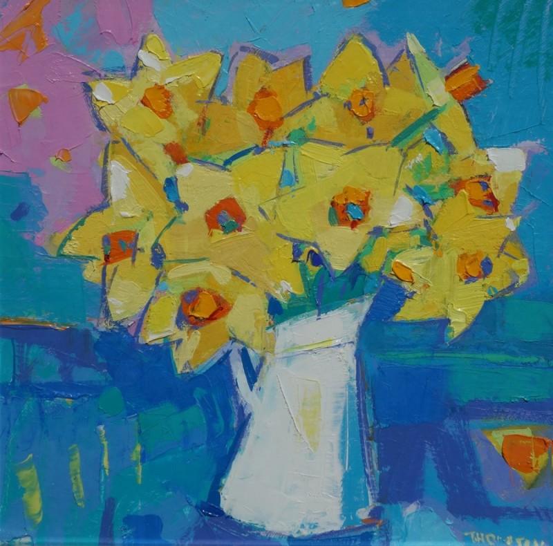 Daffodils in a White Jug