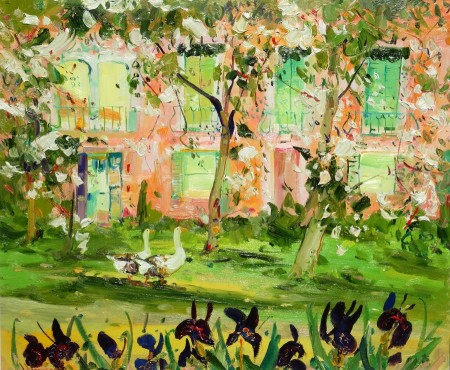 Geese in the Orchard