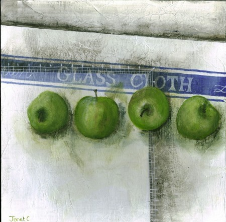 Row of Granny Smiths
