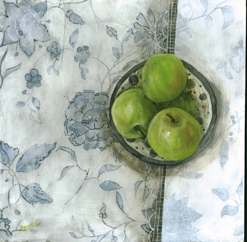 Blue and White and Granny Smiths