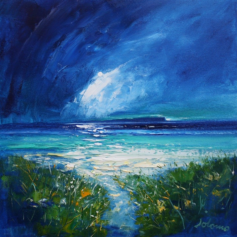 Beach Path The Long Island Storm Passing by John Lowrie
