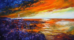 Dawnlight Scalpay Lighthouse Isle of Harris