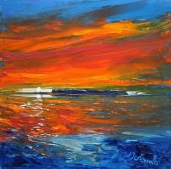 Sunset Over Staffa