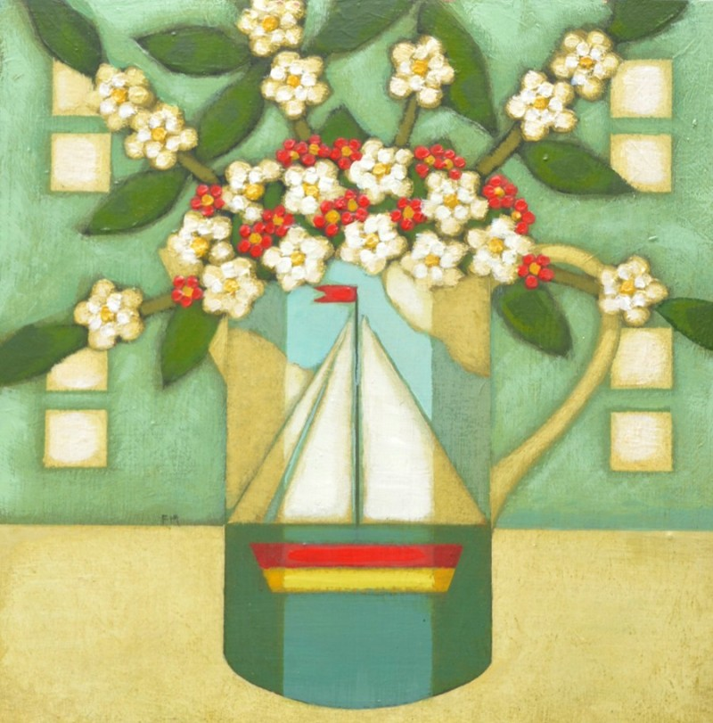 Blossom in a Boat Jug