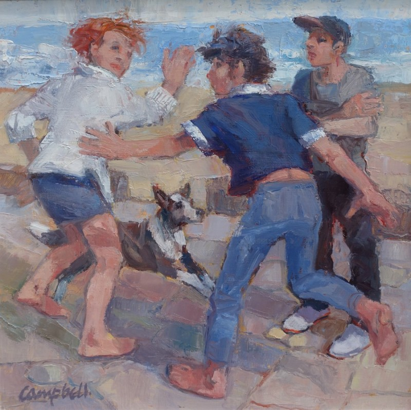 Two Gallus Girls, a Boy and a Collie