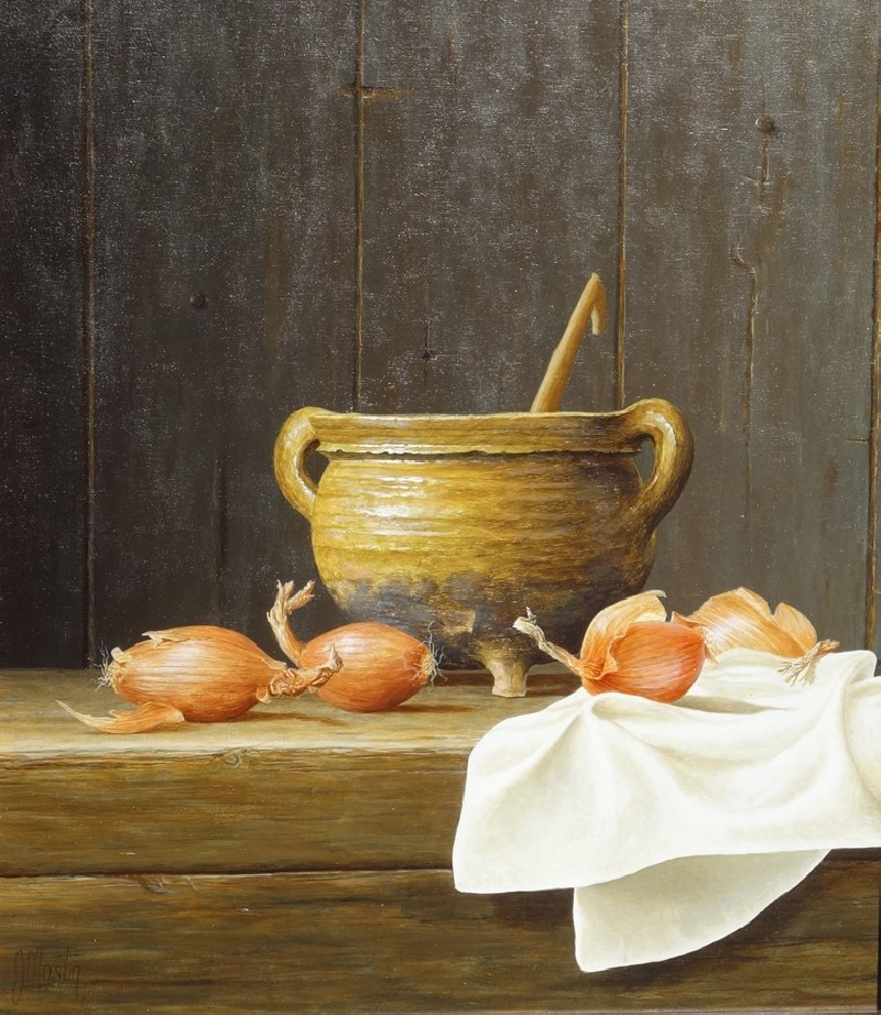 Cooking Pot With Onions