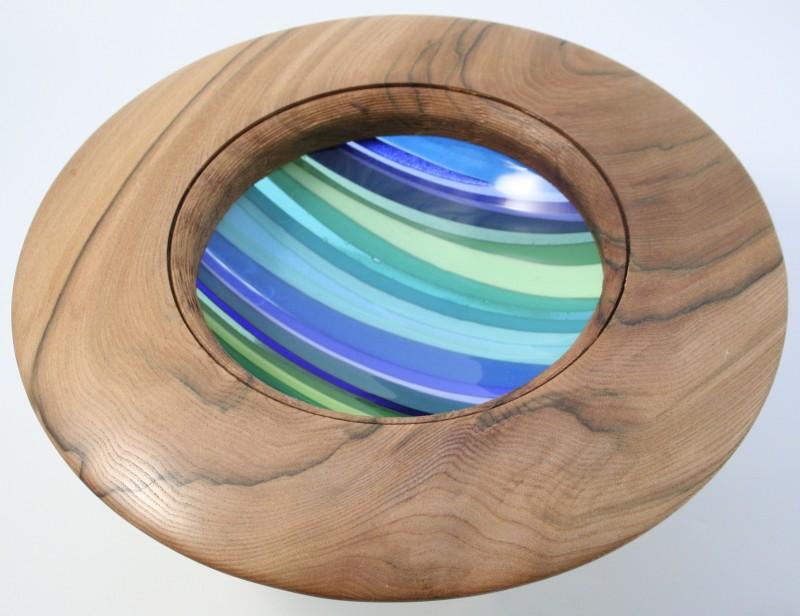 Wych Elm Fused Glass Bowl