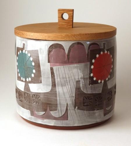 Jar with Turned Oak Lid - Birlin