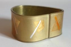 Silver/gold triangle flexible cuff