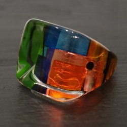 Rainbow square ring