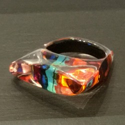 Rainbow leaf ring