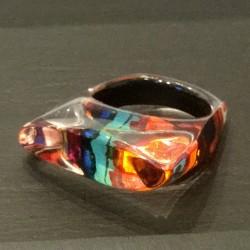 Rainbow leaf ring