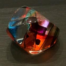 Rainbow pyramid ring