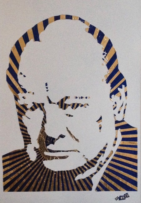True Blue — collage by Scottish artist Robert Mach