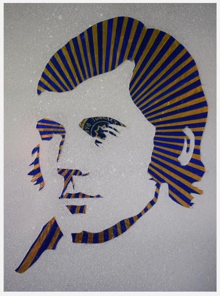 Wee Blue Burns —Tunnocks collage by Robert Mach